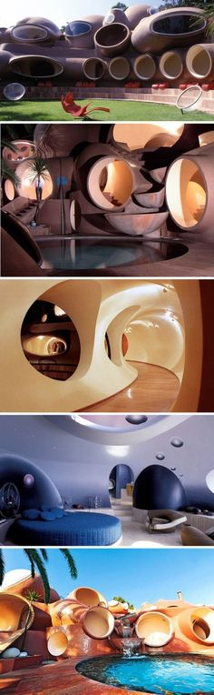 Bubble Palace, Palais Bulles, France, designed by Antti Lovag, South of France…