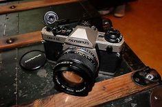 olympus om-4ti 35mm slr titanium winder2 om zuiko 50mm 1;1.4 lens