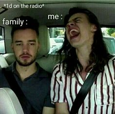 my dad is like every time one direction is on the radio changes and i put in one of my cds just to anoy him! my mom is like me lol.it is true One Direction Wallpaper, One Direction Humor, One Direction Pictures, I Love One Direction, Liam Payne, Flipagram Instagram, Singing In The Car, Fangirl, Funny Memes