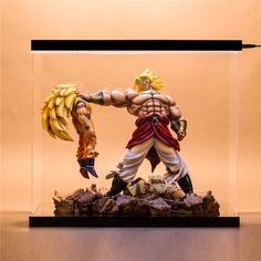 Dragonball father son goku gohan kamehameha resin statue - Dragon ball z 186 vf ...