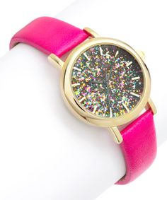 Hot Pink Confetti Watch