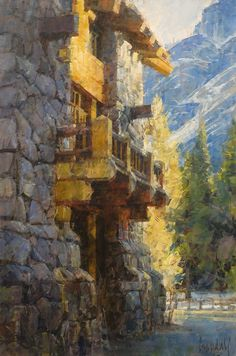 Ahwahnee Hotel, Yosemite  by James Crandall  Oil 36 x 24