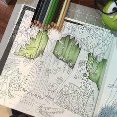 New WIP from Magical Jungle #johannabasford #magicaljungle #arte_e_colorir…
