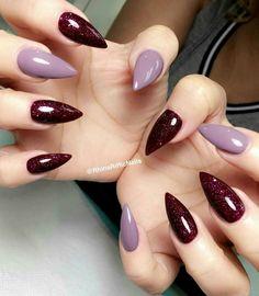 Inspiration Burgundy Nail Designs, Burgundy Nails, Nail Tech School, Belle Nails, 3d Nails, Mani Pedi, Winter Nails, Nail Arts, Pretty Nails