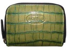green kroko wallet