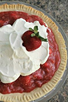 Our family loves this dessert for Thanksgiving! Fresh Strawberry Pie
