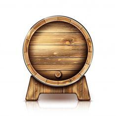Vector wooden barrel for wine or beer on stand , Barris, Wine And Beer, Leprechaun, Wood Watch, Branding Design, Canvas, Vector Freepik, Painting, Magic