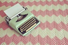 My Dad bought me my first type writer. It was a baby blue color :-).