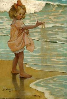 Little Drops Of Water, Jessie Willcox Smith (1863 – 1935, American)