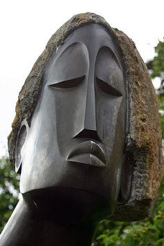 Stone sculpture by a Shona artist Art Sculpture, Abstract Sculpture, Sculpture Portrait, Stone Sculptures, Contemporary Sculpture, Parcs, Stone Carving, Public Art, Clay Art