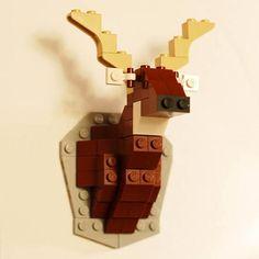 Lego-Hirschtrophäe
