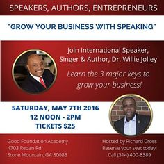 My good friend @masterempowermentor will be hosting an event tomorrow in Atlanta, GA where I will be sharing the 3 Keys to Grow Your Business. Seats are limited, so register today to reserve your spot! http://bit.ly/1ZoaDJL