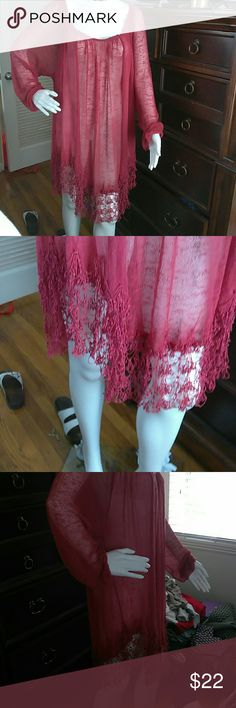 Free people brand swimsuit cover. Cute free people brand swimsuit cover or see thru dress. Burgundy color Free People Other