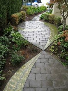 Interesting Paving Idea  Remember that you can get all your bricks, paving and retaining blocks from Mobicast - we have the largest range in the Southern Cape. With branches in George, Mossel Bay and Harkerville, we are ideally situated to supply you wherever you are.