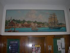 Kennebunkport, Maine Post Office Mural by jimmywayne, via Flickr. New Deal mural for the Kennebunkport post office was painted in 1941 by Elizabeth Tracy