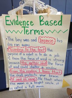 Evidence Based Terms Anchor Chart