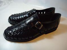 VINTAGE Men's Fieldmaster Shoes Braided Leather Brazilian Loafers Sandals 12 D #Fieldmaster #LoafersSlipOns