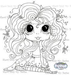 INSTANT DOWNLOAD Digital Digi Stamps Big Eye Big Head Dolls Digi  My - Besties  IMG295  By Sherri Baldy