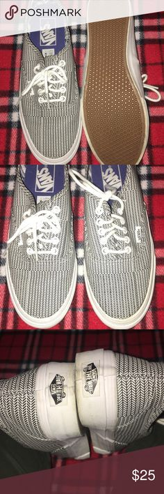 Vans White and black vans worn a couple of times but still in good condition. Vans Shoes