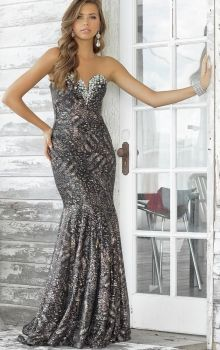 Mermaid/Trumpet Strapless,Sweetheart Natural Long/Floor-length Sleeveless Crystal Sweep/Brush Train Prom Dresses Dress