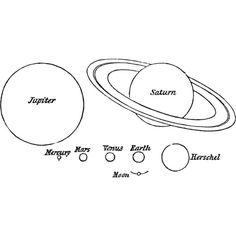 Planet Sizes Clipart ❤ liked on Polyvore featuring fillers, drawings, text, doodles, backgrounds, quotes, circle, round, circular and borders