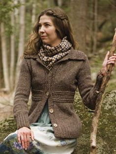 knit jacket berroco ~ woodsy and lovely.