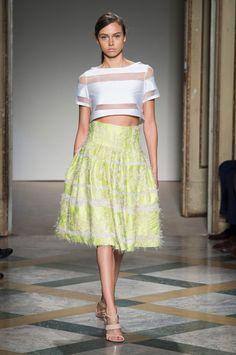 34 photos of Chicca Lualdi at Milan Fashion Week Spring 2015.