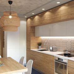 Всем привет! Продолжу сегодня показывать #zukkini_vremena_goda На этот раз давайте заглянем на кухню. Многие спрашивают в директ, что это за обои на стене и потолке. Отвечаю. Обои dimensions 8103 от шведского бренда ECO. Светильник, если что, икеа:) Визуализатор @dentraveler