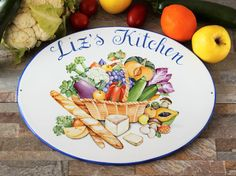 Custom kitchen sign: a touch of color in your kitchen :-)
