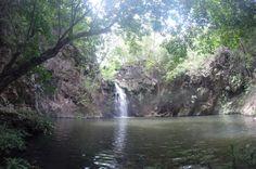 La Gata Waterfall in the Tenorio River Guanacaste, Costa Rica #rafting #fun #cool