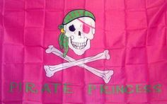 Pirate Princess Pink 3'x 5' Pirate Flag