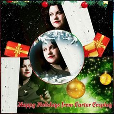 Wishing everyone Happy Holidays! Original photo by World of HSL . Peggy Carter, Agent Carter, Holiday Wishes, Upcoming Events, Punk Rock, Happy Holidays, Captain America, Witch, Cosplay