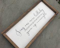 Nusery sign, nursery wall decor, childrens poem, nursery poem, framed wood sign, farmhouse wall decor, wooden sign
