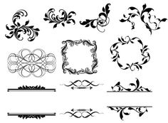 INSTANT DOWNLOAD 1 zip file- Clip Art Personal Small Commercial -  Scallop Damask vintage clipart 1042 on Etsy, $4.00