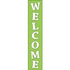 Polka dot welcome banner!