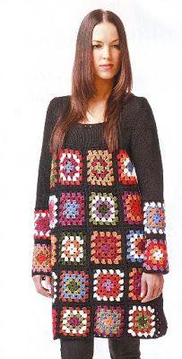 """Patron Crochet Tunica """"Cuadrados Abuela o Granny"""" - Patrones Crochet"""