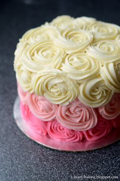 i heart baking!: pink ombre rose cake