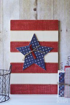 The Happy Scraps: Wood Fireworks Decor