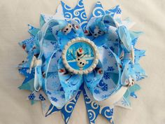 Frozen Olaf the Snowman Boutique Hair bow by AllThingsGirlyBows, $8.50