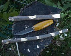 "Photos Mors Kochanski ""Try"" Stick.  Good practice for woods craft knife work."