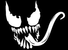 Venom Decal Villain Spiderman Marvel Superheros and Villains Vinyl Decal - Stencils, Stencil Art, Pumpkin Stencil, Pumpkin Carving, Spiderman Tattoo, Spiderman Marvel, Marvel Wallpaper, Pyrography, Halloween Pumpkins