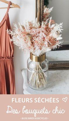 Où trouver des bouquets de fleurs séchées? Bicycles, Bouquets, Blog, Birds, Table Decorations, Flower Market, Dried Flower Bouquet, All Flowers, Flower Crowns