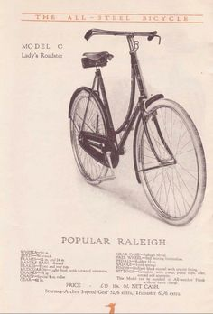 To make up for Pamela's disappointment he bought her a Raleigh loop-frame roadster. Kate Atkinson's Life After Life is available now in hardback, ebook and audio. Bicicletas Raleigh, Raleigh Bicycle, Vintage Cycles, Old Bikes, After Life, Bike Art, Car Wheels, Vintage Posters, Cycling