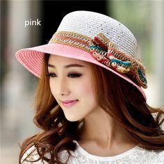 Sweet bow straw hat fot girls UV summer wear | Buy cool cap ...