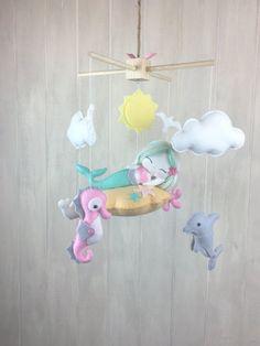 Baby mobile  Mermaid mobile  nursery by JuniperStreetDesigns
