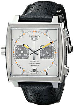 TAG Heuer Men's CAW211C.FC6241 Monaco Analog Display Swiss Automatic Black Watch