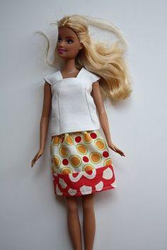 easy barbie skirt...good way to practice my sewing skills