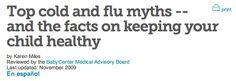 Top cold and flu myths -- and the facts on keeping your child healthy