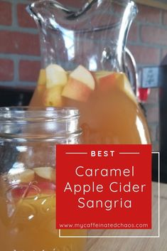 Caramel Apple Cider Sangria Recipe In a world full of pumpkin spice lattes, be a glass of Caramel Apple Cider Sangria. This is the perfect sangria recipe for your next fall occasion! Apple Cider Alcohol, Best Apple Cider, Hard Apple Cider, Carmel Apple Sangria, Apple Pie Sangria, Fall Sangria, Chorizo, Cider Cocktails, Summer Cocktails