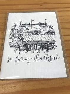 This blank thank you card will help you to give a special shout out to those who deserve a thank you as big as the fair! Decorah Iowa, Thanks Greetings, Boho Boutique, Thank You Cards, Gifts For Her, Greeting Cards, Thankful, Free Shipping, Leather